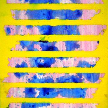 Giulio Zanet, Senza titolo, 2016, smalto su tela, 30x25 cm