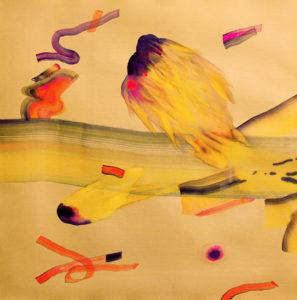 Isabella Nazzari, Innesti 105, acquerello su carta, 70x70 cm, 2018