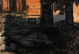 Michael Rotondi, Mota #16, 2018, smalto su carta, 70x100 cm
