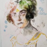 Elisa-Filomena,-Donna-degli-anni-'50,-pastelli-su-carta,-cm-50x-40,-2017