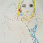 Elisa-Filomena,-Amiche,-pastelli-su-carta,-cm-45x35,2018 Circoloquadro
