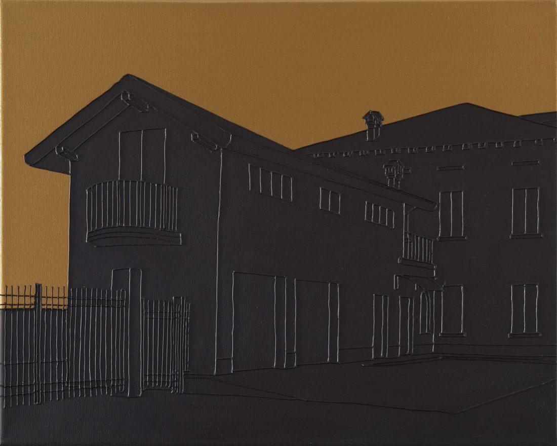 Massimo Dalla Pola, Erba 2006, acrilico su tela, 40x50 cm, 2018