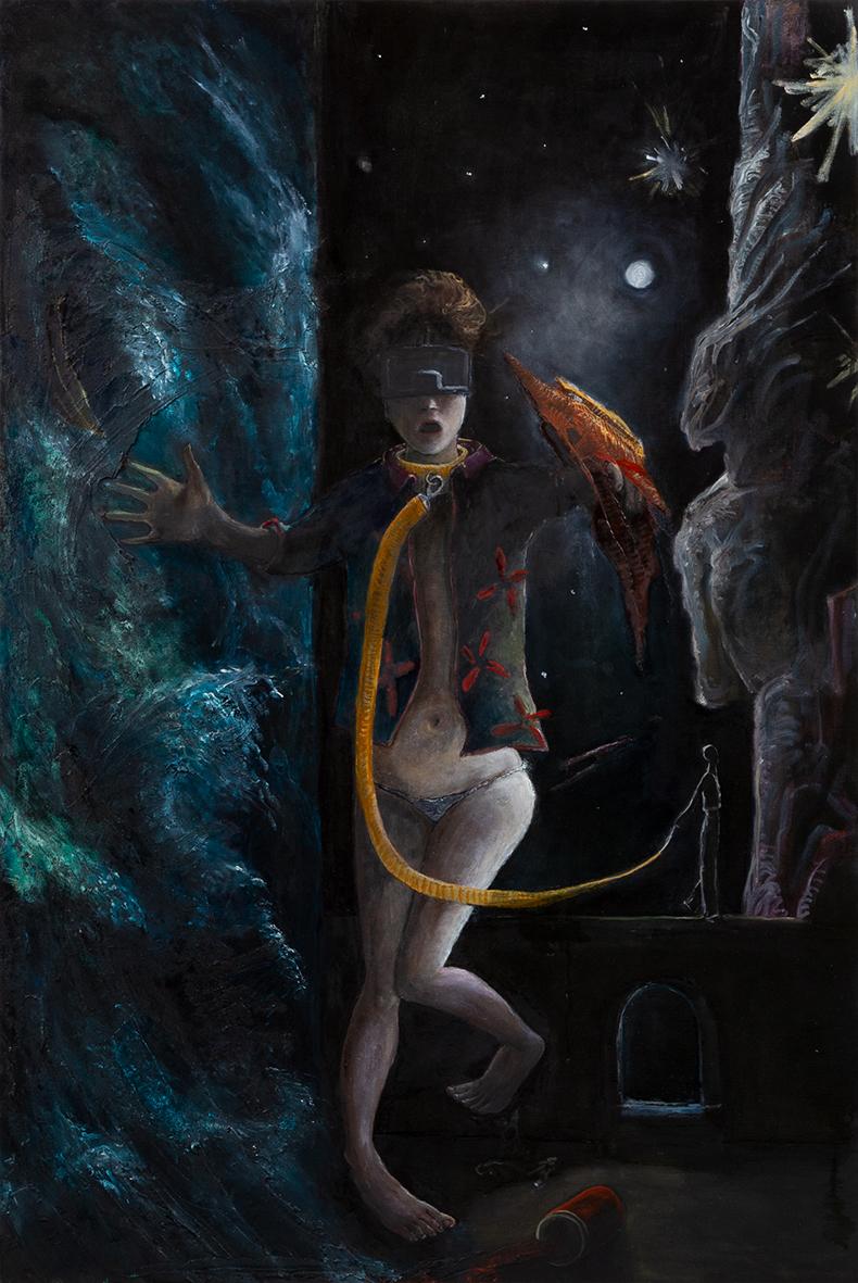 Chiara Donadei, Laika, 2018-19, tecnica mista su tela,120x80cm