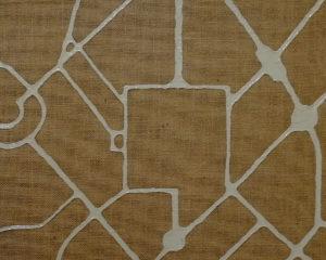 Circoloquadro_Massimo Dala Pola_Maps Milano 1969_2019_smalto su iuta_40x50cm